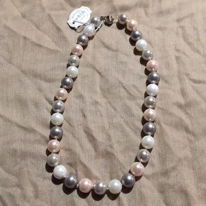 Fresh Water Pearl Necklace Sterling Silver Closure